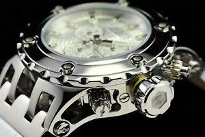 送料無料 腕時計 一部地域を除く インビクタリザーブスペシャリティスバクアスイスハイポリッシュクロオンホワイトウォッチinvicta 52mm reserve specialty subaqua chron 開店祝い polished white high swiss watch 13j