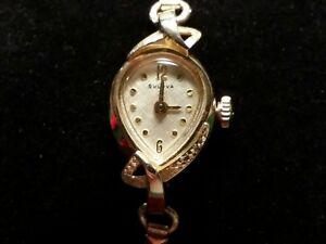 大幅にプライスダウン 宅配便送料無料 送料無料 腕時計 ブローバレディースゴールドクォーツbulova ladies 10k wrist watch gold filled quartz