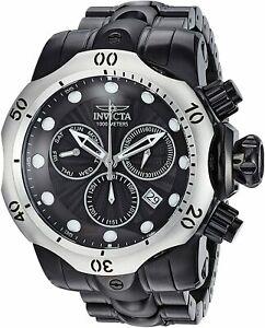 送料無料 腕時計 至上 公式 インビクタメンズヴェノムクロノシルバーベゼルブラックブレスレット