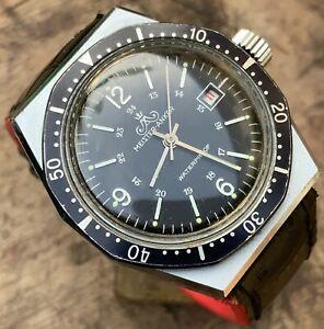 送料無料 腕時計 マスターアンカータウチャーダイバードイツmeister anker taucher germany 1970s diver watch 日本 セットアップ wrist