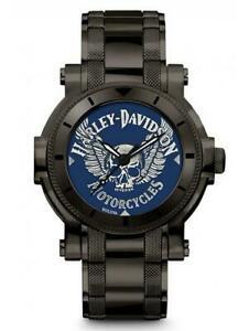 送料無料 新作多数 腕時計 ハーレーダビッドソンメンズウィングスカルステンレススチールウォッチharley davidson 78a117 mens winged stainless watch 送料無料お手入れ要らず £22900 skull rrp steel