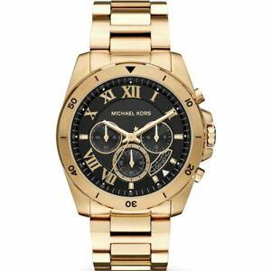 ショッピング 送料無料 配送員設置送料無料 腕時計 マイケルコースメンズゴールドブラッククロノグラフウォッチ