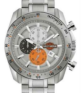 送料無料 休み 腕時計 ハーレーダビッドソンメンズバーシールドスチールクロノウォッチharley davidson 76b186 mens bar 安い 激安 プチプラ 高品質 rrp chrono watch shield ssteel £24900 amp;