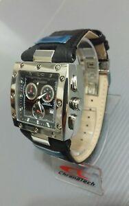 送料無料 受賞店 腕時計 物品 クロノテックスイスリバーソクロノオーバーサイズケースブラックシルバー