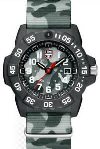 時間指定不可 送料無料 腕時計 メンズルミノックスネイビーシールトライデントダイバーカモフラージュストラップウォッチmens luminox お買い得品 navy seal trident 3507ph camoflage divers watch strap