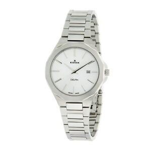 送料無料 腕時計 ドルフィンシルバークォーツウォッチedox 57005 3m ain delfin womens 税込 贈り物 quartz watch silver