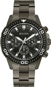 送料無料 腕時計 配送員設置送料無料 驚きの値段で ブローバゲンツブラックイオンメッキスチールクロノ