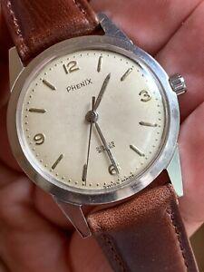 送料無料 腕時計 卓越 ヴィンテージフェニックスディスカススイススチールケースメンズウォッチミリメートルvintage phenix discus swiss made steel 迅速な対応で商品をお届け致します 32 watch case eta 2390 mens 5mm