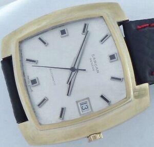 安売り 送料無料 腕時計 スイスサルカージュネーブメンズオートマティックヴィンテージ17 jewels swiss made sarcar mens up geneve vintage ショップ wind watch autmatic