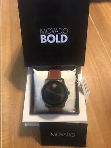 mens bold ブランドモバドメンズbrand leather movado 【送料無料】腕時計 3600378 watch