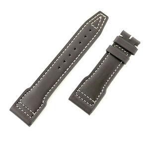 leather 【送料無料】腕時計 in 22mm great brown ダークブラウンレザーストラップiwc authentic dark condition strap