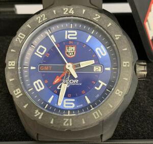 5023 men's time ルミノックスカーボンケースデュアルタイムメンズウォッチluminox enforced carbon xcor 495 aerospace watch 【送料無料】腕時計 case dual gmt