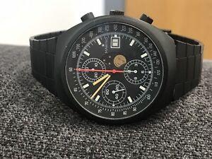 【サイズ交換OK】 【送料無料】腕時計 ヴィンテージブラッククロノグラフミントハイヤーポルシェ, ノザワオンセンムラ 184e3451