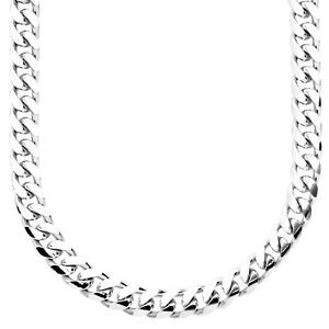 <title>送料無料 ジュエリー アクセサリー スターリングシルバーグルメチェーンsterling 925 argent gourmette chaine miami 希望者のみラッピング無料 7mm</title>