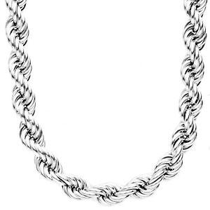 送料無料 ジュエリー アクセサリー スターリングシルバーブリングストリングチェーンホローロープsterling 925 argent bling de 訳あり商品 送料無料限定セール中 hollow 10mm chaine rope corde