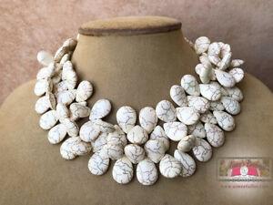 <title>送料無料 ジュエリー アクセサリー ハウライトターコイズホワイトパターンファンタジーネックレスジュエリーセラーhowlite turquoise blanc motif fantaisie collier bijoux lg 2strand 毎日激安特売で 営業中です usa sellr</title>