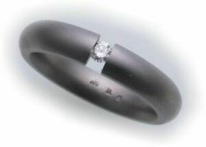<title>送料無料 ジュエリー アクセサリー マットリングチタニウムリングanello da donna anello in titanio con 超特価SALE開催 brillante 0 07ct opaca</title>