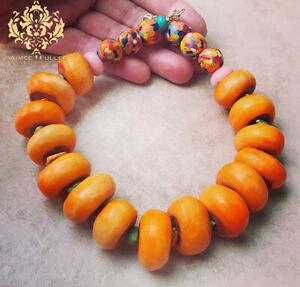 <title>送料無料 ジュエリー アクセサリー オレンジガラスビーズクラフトコトネックレスグレートアフリカガーナconfetti perline di vetro arancione krobo tribe osso collana grande africa ghana 40%OFFの激安セール</title>