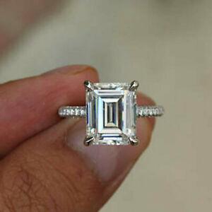 【送料無料】ジュエリー・アクセサリー トランスペアレントエメラルドホワイトモイッサニテローンエンゲージリング250 kt smeraldo trasparente bianco moissanite fidanzamento solitario anello 14k