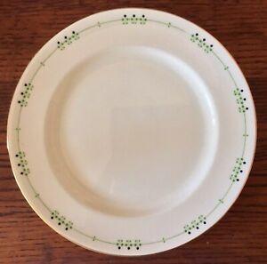 """【送料無料】キッチン用品・食器・調理器具・陶器 インチディナープレートヴィンテージミントン中国グリーンピンストライプとドットパターン9"""" Inch DINNER PLATE! Vintage MINTONS CHINA: Green Pinstripe And Dot Pattern A+"""