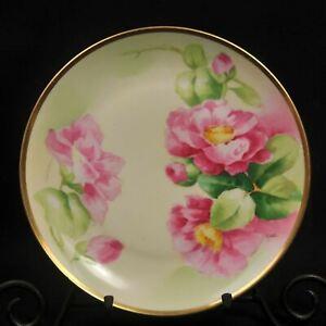 【通販 人気】 【送料無料】キッチン用品・食器・調理器具・陶器 リモージュ・ラトリル・フレレスオールド・アビー・プレートピンク・ローゼズ・サイン入りマネLimoges Latrille Freres Old Abbey Plate Pink Roses Signed Manet w/Gold 1908-19, Matin(マタン) cc705ca1