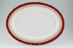 最高の品質の 【送料無料】キッチン用品・食器・調理器具・陶器 ロイヤルウスターリージェンシールビーホワイトオーバルプレートプラッターRoyal Worcester - Regency - Ruby - White - Oval Plate / Platter - 71377Y, アブグン 606f6a6a