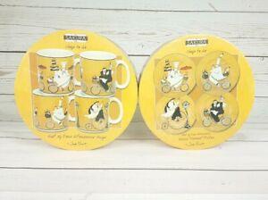 早割クーポン! 【送料無料】キッチン用品・食器・調理器具・陶器 ジェニファー・ギャラン新セットプレートマグカップセットによるさくらファットシェフプレートSakura Fat Chefs Plates by Jennifer Garant New Set of 4 Plates & Set Of 4, ポポラマーマ 972b1c78