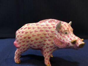 適切な価格 【送料無料/】キッチン用品・食器・調理器具 Wild・陶器 ヘレンドフィギュアイノシシラズベリーピンクフィッシュネットHerend Figurine - Pink Wild Boar - Raspberry/ Pink Fishnet, 淡路町:ddfb646f --- mail.freshlymaid.co.zw