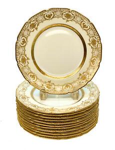 人気 【送料無料 Plates,】キッチン用品・食器・調理器具・陶器 ロイヤル・ドルトン Porcelain・イングランド磁器デザートプレート Gilt、年頃。ギルト・ウルンズ12 Royal Doulton England Porcelain Dessert Plates, circa 1910. Gilt Urns, ワケグン:103e561e --- eamgalib.ru