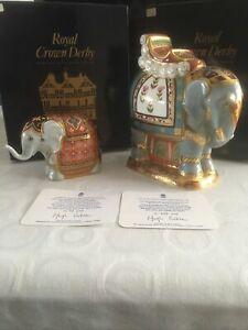 2021人気特価 【送料無料】キッチン用品・食器・調理器具 Mulberry・陶器 ロイヤルクラウンダービーマルベリーホールエレファンツ。署名Royal Crown Crown Derby Derby Mulberry Hall Elephants. Signed, チョウセイムラ:53179052 --- eamgalib.ru
