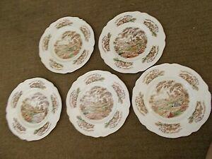 送料無料 海外並行輸入正規品 キッチン用品 お金を節約 食器 調理器具 陶器 ヴィンテージジョンソンブラザーズイングリッシュガーデンデザートバタープレートのセットSet of 5 Vintage English 7 Gardens Butter Johnson Dessert Plates Brothers
