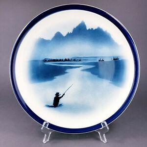 【送料無料】キッチン用品・食器・調理器具・陶器 ビッグスカイトーマスノービーストーンウェアコレクションフライフィッシングプラッターBig Sky Thomas Norby Stoneware Collection Fly Fishing 12 Platter