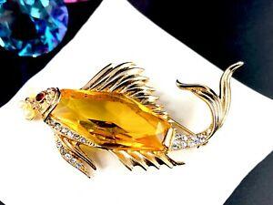 フジオカシ 【送料無料 591ms】模型車 モデルカー クラウントリファリスターリングヴェルメイユシトリンガラスブローチrare 591ms fish crown trifari sterling vermeil vermeil citrine glass fish bubble brooch, ワカマツ:f4735cea --- verandasvanhout.nl
