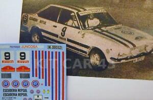 送料無料 模型車 再再販 モデルカー デカルカルカスポーツレプソルジュンコサラリーヴァスコナバロdecal calca 143 seat 124 sport esc 安い 1971 rally m navarro juncosa repsol vasco