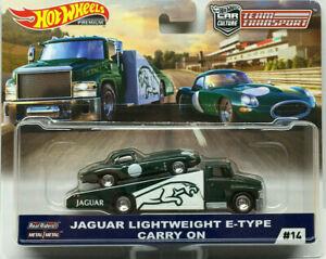 送料無料 模型車 モデルカー ホットホイールチームジャガーキャリーオンhot wheels 低価格 team jaguar 『4年保証』 etype carry lightweight transport on