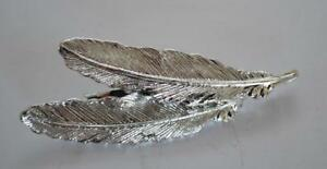 定番キャンバス 送料無料 模型車 モデルカー ヴィンテージサインジェリーブローチvintage signed silver 休み feather brooch gerrys shape