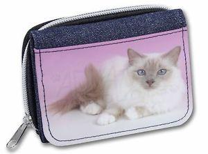 【送料無料】猫 ネコ キャット バッグ 小物 ライラックレディースデニムクリスマスlilac birman cat girlsladies denim purse wallet christmas gift idea, ac91jw
