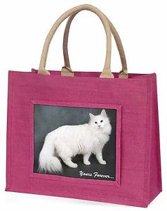 【送料無料】##ピンクショッピングバッグクリスマスプレゼントwhite cat 039;yours forever039; large pink shopping bag christmas present i, ac130blp