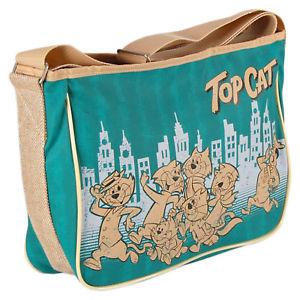 6667b7fec1e7 【送料無料】トップサッチェルバッグショルダーメッセンジャーレトロクールtop cat chase satchel bag