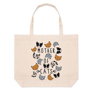 【送料無料】トートバッグ mother of cats large beach tote bag funny crazy cat lady shoulder