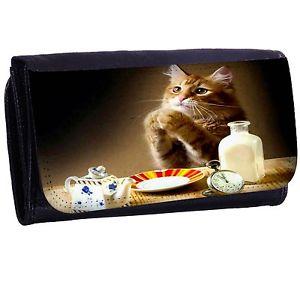 【送料無料】猫 ネコ キャット バッグ 小物 ヘルプミージッパービルカードホルダーロングウォレットhelp me cat bifold zipper bill amp; card holder long wallet