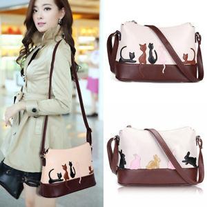 【送料無料】ウサギショルダーバッグクロスボディバッグハンドバッグメッセンジャーwomen lady cat rabbit leather shoulder bag cross body purse handbag messenger