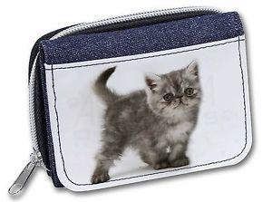 【送料無料】猫 ネコ キャット バッグ 小物 シルバーエキゾティックレディースデニムクリスマスsilver exotic kitten girlsladies denim purse wallet christmas gift id, ac196jw