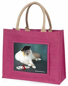 【送料無料】#ピンクショッピングバッググラードgraduation birman cat 039;congratulations 2015039; large pink shopping bag , grad1blp