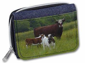 【送料無料】猫 ネコ キャット バッグ 小物 レディースデニムクリスマスcow with calf girlsladies denim purse wallet christmas gift idea, aco5jw