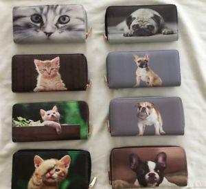 【送料無料】猫 ネコ キャット バッグ 小物 フレンチブルドッグzipzip around large organiser purse wallet dog cat animal design french bulldog