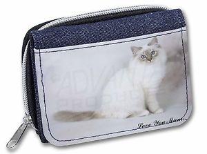 【送料無料】猫 ネコ キャット バッグ 小物 #レディースデニムクリスマスbirman cat 039;love you mum039; girlsladies denim purse wallet christmas , ac47lymjw