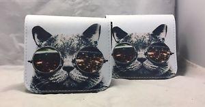 【送料無料】ガラスプリントショルダーハンドバッグバッグfun women synthetic leather cat wearing big glasses print shoulder handbags bag