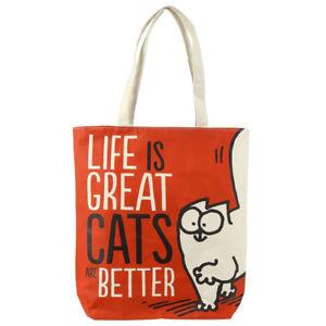 【送料無料】サイモン#コットンバッグショッピングバッグトートファッションゲームsimon039;s cat life is great cotton bag shopping everyday bag tote fashion fun