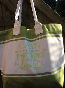 【送料無料】ビーチバッグショッピングバッグcats leave pawprints beach bag shopping bag